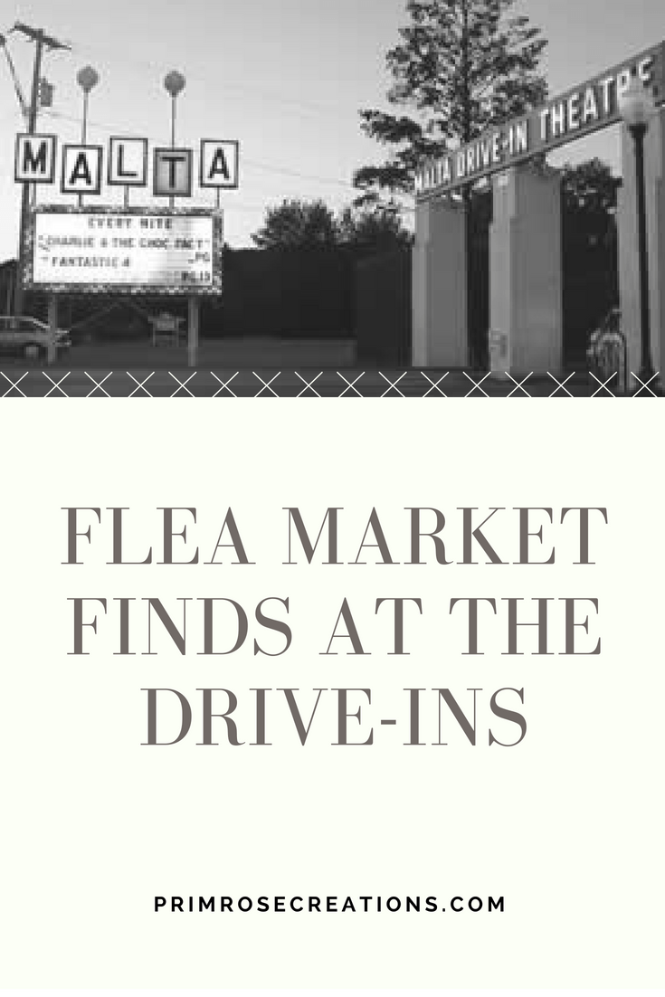 Even on a rainy day, our flea market finds check off a few boxes on our decor list. #PrimroseCreations #lovethelifeyoulive #fleamarketfinds #driveins