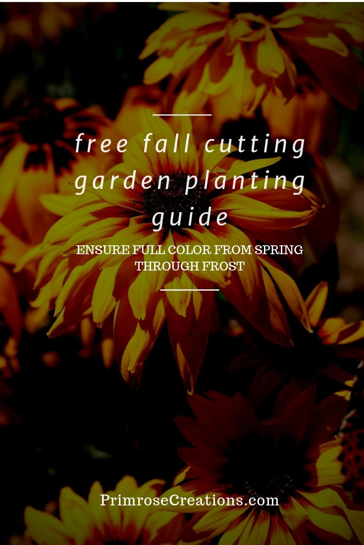 Ease your way to gardening perfection with this Free Fall Flower Cutting Garden Guide